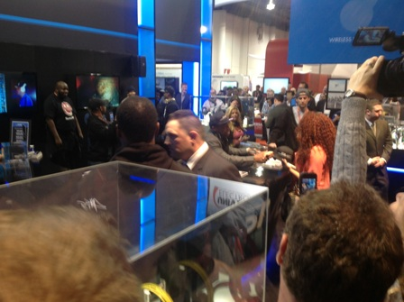 1) 50 Cent Signing Autographs At CES 2013