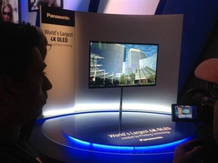 4) Panasonic Shows Off Its 4K OLED Prototype At CES 2013