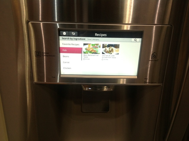 You Can Communicate With LG's Smart Refrigerator While You 're Out Thanks To NFC Technology