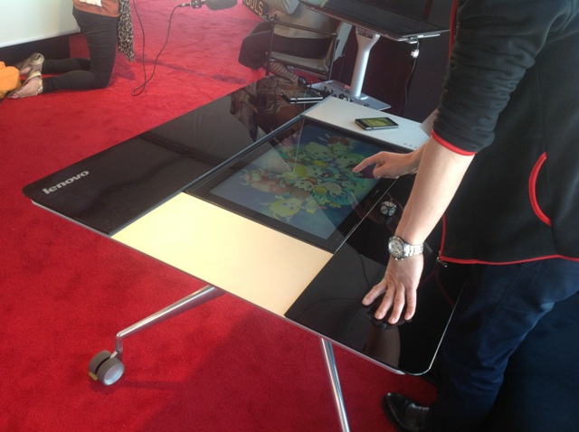 13) The Lenovo Horizon Seen In A Prototype Desk That Allows It To Be Tilted Til It 's Vertical