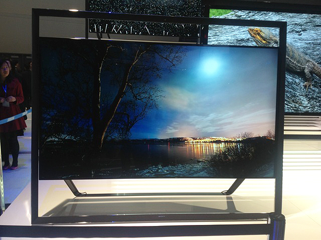 Samsung 's Ultra HD Offering The S9 UHD Is Being Shown Off With An 85-inch Or 110-inch Screen And Looks Like It Is Floating In Its Frame