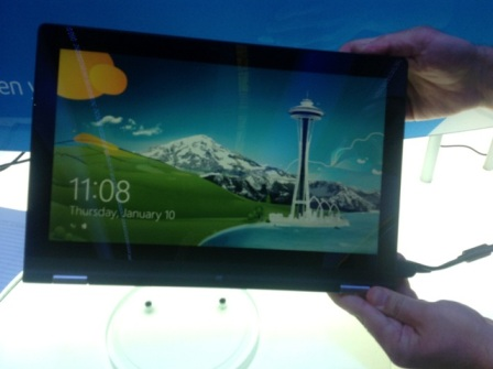8) And Here 's The Newly Unveiled Yoga In Tablet Form . Pretty Cool , Huh ...
