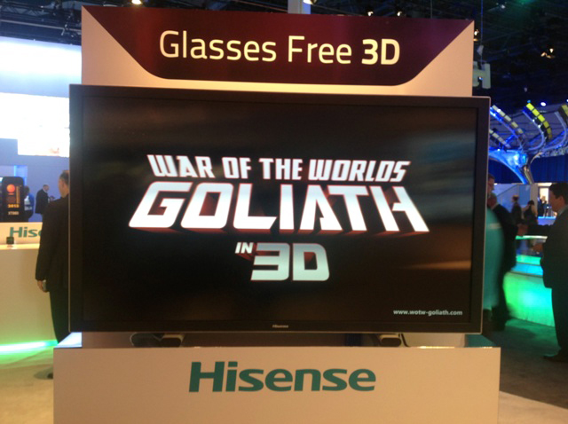 4) Hisense Displayed A Glasses -free 3D TV At The CES
