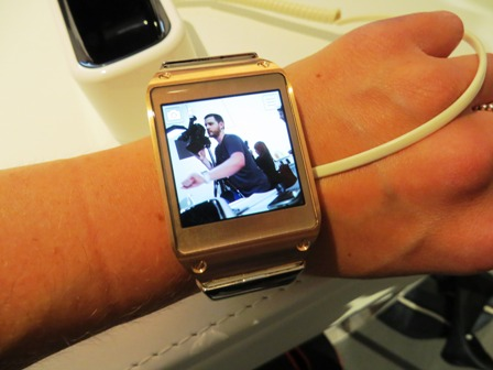 Day One Galaxy Gear Smartwatch On Wrist At IFA 2