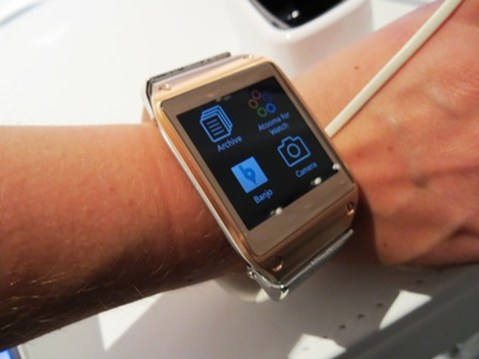 Day One Samsung Galaxy Gear Smartwatch On Wrist At IFA