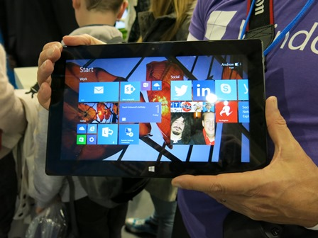 Surface Pro 2 On Microsoft Stand