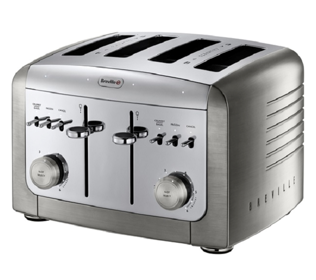 4 slice stainless toasters
