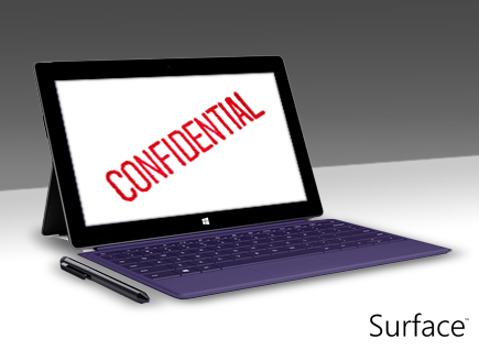 Avoid annoying colleagues that... discuss confidential work matters openly! #SurfacePro2