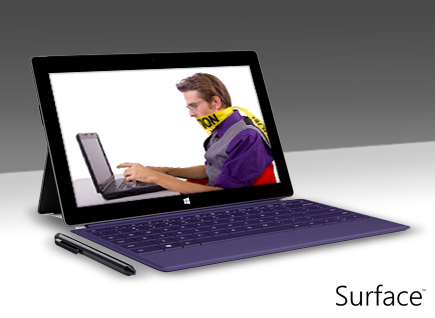 Avoid annoying colleagues that... send you emails when they're sitting directly opposite you! #SurfacePro2