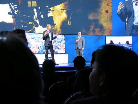 CES Press Day Samsung Michael Bay