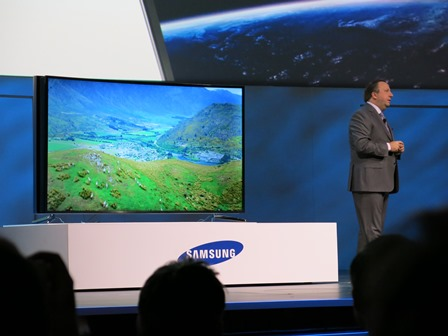 CES 2014 Samsung Bendy Screen TV