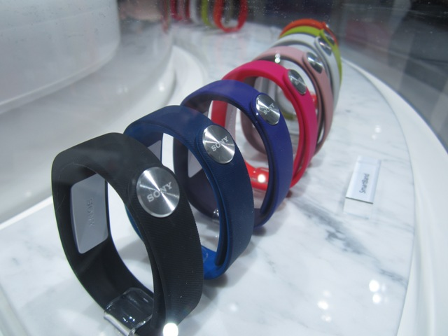 Sony Smartband Fitness Wristbands On Display At Mobile World Congress