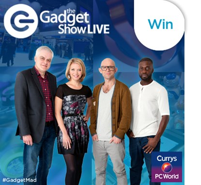 win VIP tickets Gadget Show