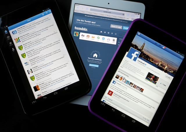 Tablets With Facebook , Twitter