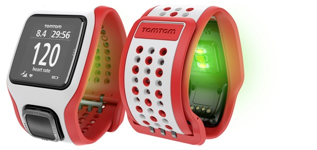 TOMTOM RUNNERCARDIO White Red1