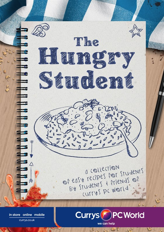 The Hungry Student Cookbook - front