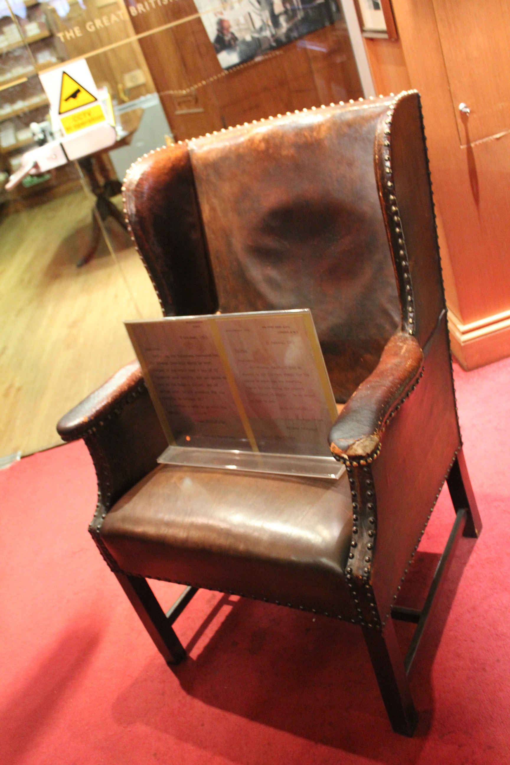 Churchill's favourite cigar smoking chair