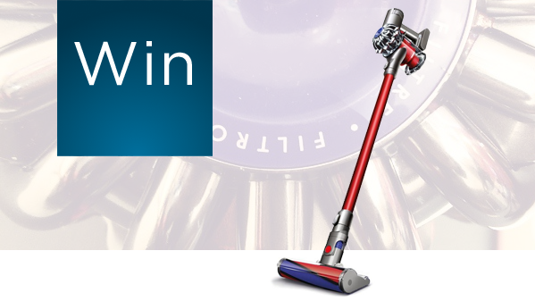 win a dyson v6 total clean cordless vacuum cleaner techtalk. Black Bedroom Furniture Sets. Home Design Ideas