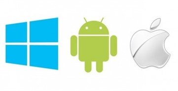 Windows -android -ios -logos