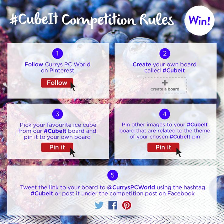Currys PC World #CubeIt Pinterest competition - How to enter