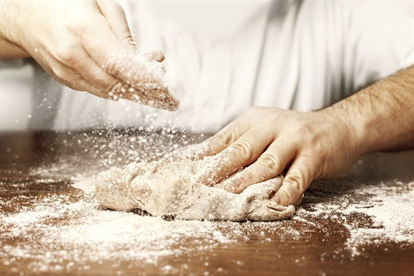 The right balance of flour to liquid is vital for good dough