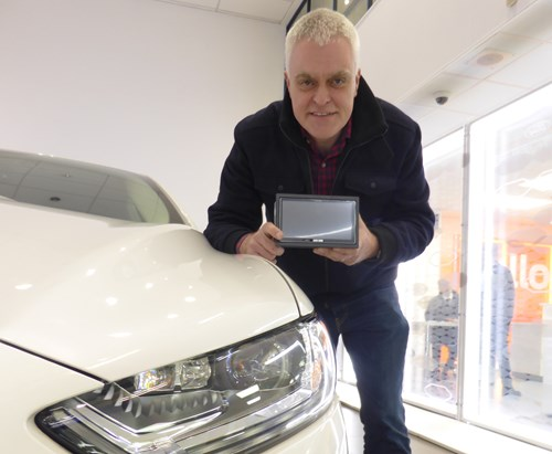 Jon Bentley with Parrot Android