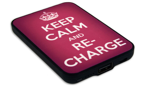 keep calm re-charge portable power