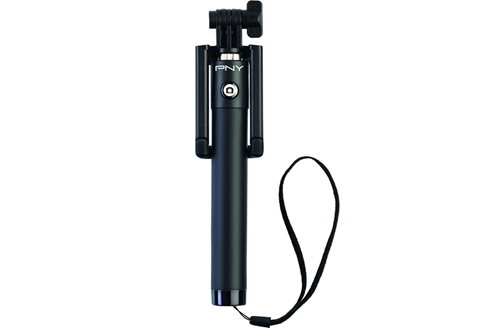 wireless selfie stick in black
