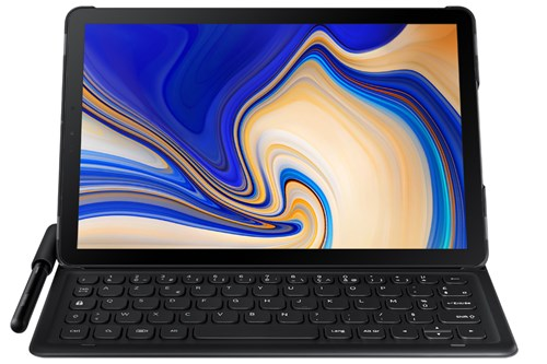 Samsung Galaxy Tab S4 with keyboard
