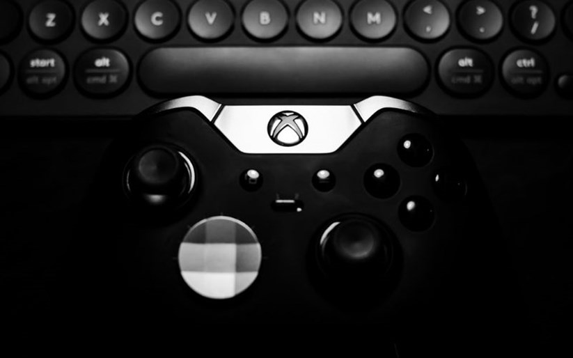 An Xbox Elite controller in black
