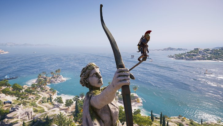 A screenshot from Assassin's Creed Odyssey, released in 2018