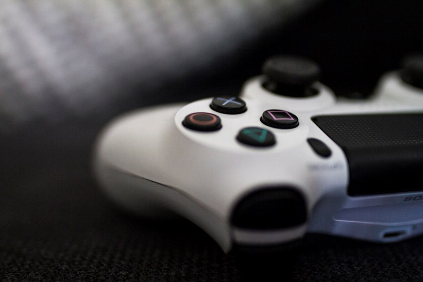 Image of a white PlayStation controller
