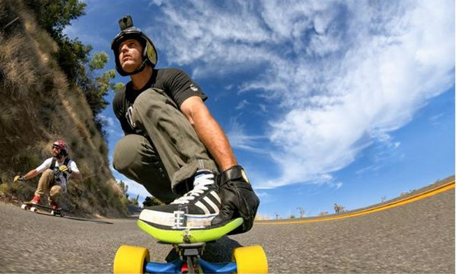 GoPro Fusion on a skateboard