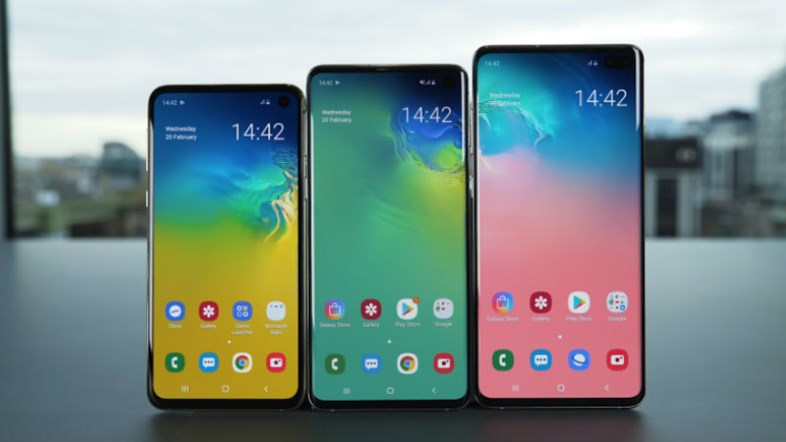 S10 phone side by side