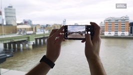 S10 taking a photo of the Thames